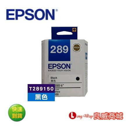 EPSON T289150 / NO.289 原廠黑色墨水匣 (適用 Epson WorkForce WF-100/WF100)