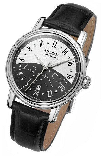 epos 愛寶時 3390.302.20.38.25FB 情感系列黑夜星雲機械腕錶/黑白面41mm