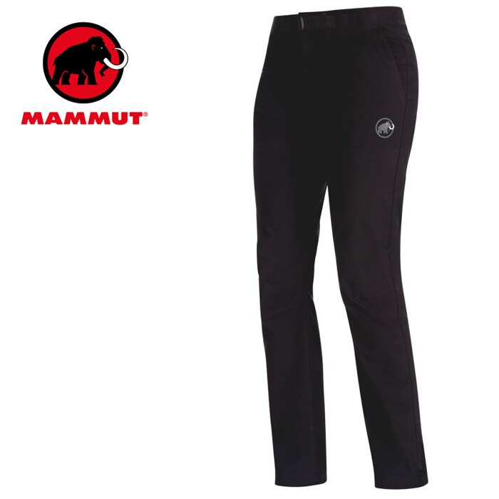【Mammut 長毛象 瑞士】Convey 彈性透氣防潑水長褲 登山褲 健行褲 休閒褲 女款 黑色 (00381-0001)