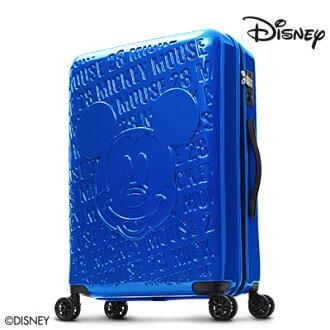 【加賀皮件】Deseno Disney 迪士尼 米奇 1928復刻浮雕 多色 PC鏡面拉鍊 24吋行李箱 旅行箱 CL8655