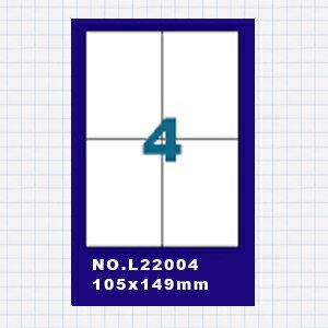 【OKIN】(5包)A4標籤貼紙2欄2列 / 50張入 四邊直角 雷射.噴墨.點距陣各式 列表機專用 標籤貼紙No.L22004