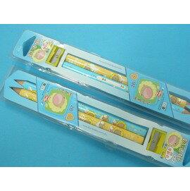 奶油獅學齡前專用2B大三角鉛筆(無毒配方)MIT製2支入/一盒{35}