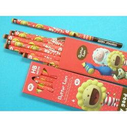 奶油獅好朋友鉛筆NO.170 HB三角塗頭鉛筆(紅色版.奶油獅)/{60}一箱/ 6小盒入(一小盒12支入)