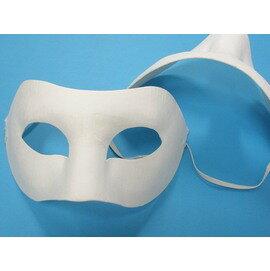 DIY彩繪面具.空白面具(半罩/附鬆緊帶)/一個{40}