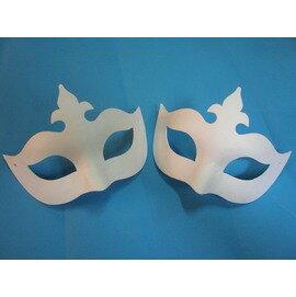 DIY彩繪面具.空白面具.紙漿面具(半罩十字)/一入個{定40}