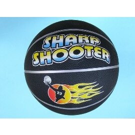 投籃機專用籃球5號/標準5號籃球國小專用(全黑)/一個入{定250}