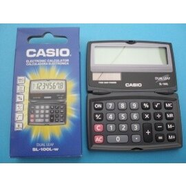 CASIO卡西歐SL-100L計算機 掀蓋式隨身型計算機8位數/一台{350}