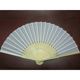 8英吋絹布空白扇子 彩繪扇子 20.5cm手繪扇(日本扇子.小摺竹片單面絹布)/{定25}一包10支入