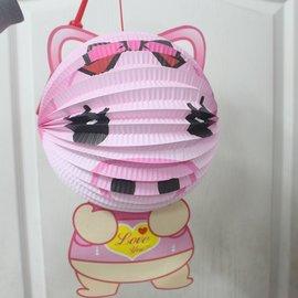 豬燈籠 豬年燈籠 Q版十二生肖造型紙燈籠(豬造型/附電池)/一個入{促99}
