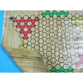 跳棋板+象棋板.兩用軟性棋盤(軟膠.象棋+跳棋正.反兩用)旻新MIT製/一片入{定130}