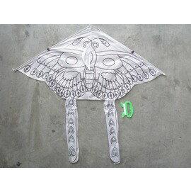 彩繪蝴蝶風箏 空白蝴蝶風箏(三角造型碳纖骨架)/一個入{定80}