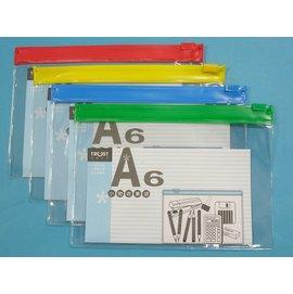 A6透明文件透明袋 信億文件袋拉鏈袋塑膠拉鍊夾鏈夾文件夾MIT製 ^~定15^~一大包12