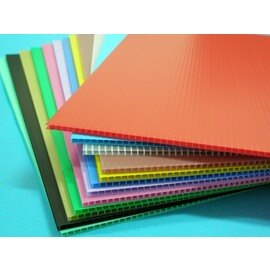 A4瓦愣板.塑膠PP瓦愣板(混色)12張入/一小包{定80}