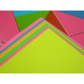 單面螢光色紙.教育色紙2008折紙摺紙色紙17.5cm x 17.5cm(大張)/{定20}一袋/ 20包入(一包10張入)