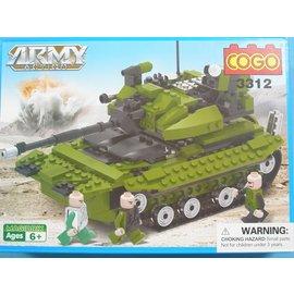 COGO積高積木 3312 軍事坦克戰車積木 約264片/一盒入{促500}~可與樂高混拼