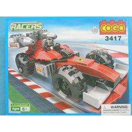 COGO積高積木3417 F1賽車積木(紅色) 可與樂高混拼(中)165片/一組入{促350}