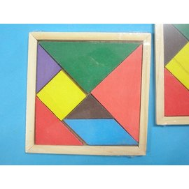 七巧板 木質七巧板 七巧板遊戲 七巧板圖形(中方形)/一個入{定20}~七巧板圖案 木製七巧板拼圖YF6508