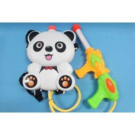 貓熊背包水槍 後背式水槍 可背式動物造型 槍長35cm 加壓式強力水槍/一個入{促199}