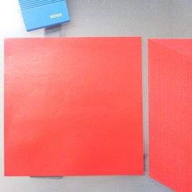 35開蠟光紅紙 DIY空白春聯紙 門聯 15.5cm x 15.5cm/一包100張入{定50}