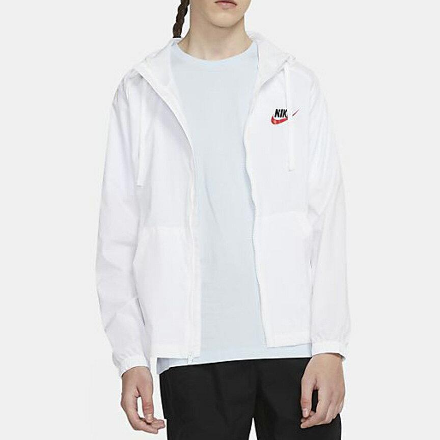 Nike Sportswear 男裝 外套 連帽 夾克 梭織 防風 輕盈 口袋 白【運動世界】CZ8677-100