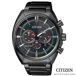 【時光鐘錶】CITIZEN 星辰(CA4285-50H) 光動能 三眼計時男錶