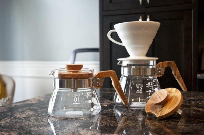 ~可 、 取貨 ~HARIO V60 橄欖木咖啡壺  600ml VCWN~60~OV
