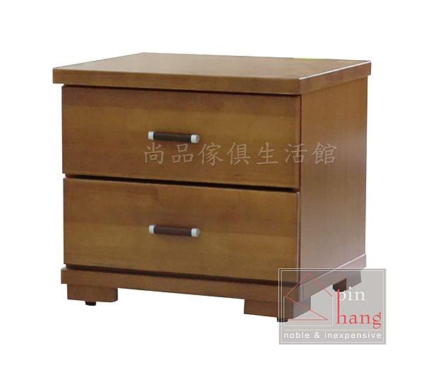 【尚品傢俱】776-09 巧亞 香檜半實木二抽床頭櫃/床邊櫃/收納櫃