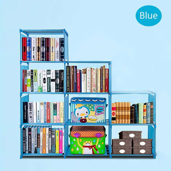 Adjustable Bookcase Storage Bookshelf with 9 Book Shelves 1