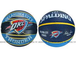 【SPALDING】奧克拉荷馬 雷霆 Thunder #7 隊徽籃球(SPA83513)