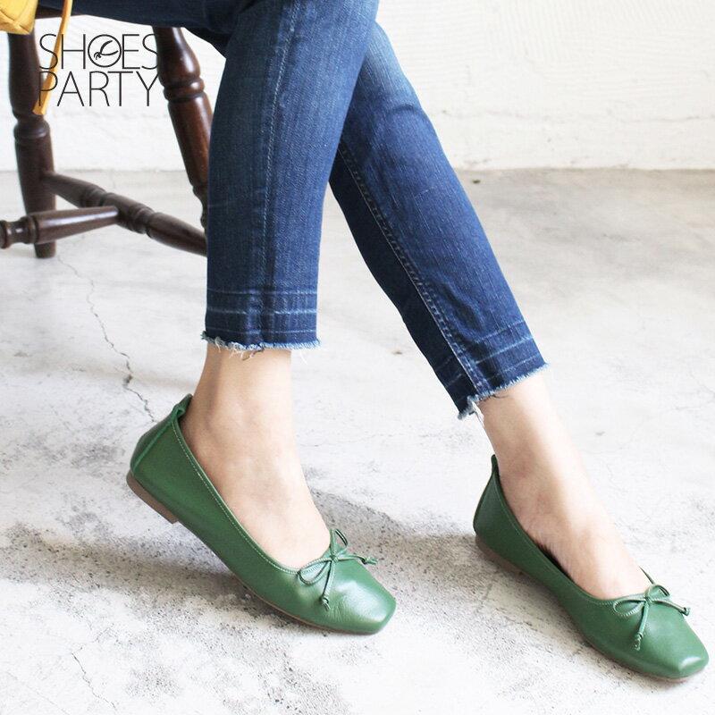 【F2-18910L】氣質小方頭芭蕾舞鞋_Shoes Party 3