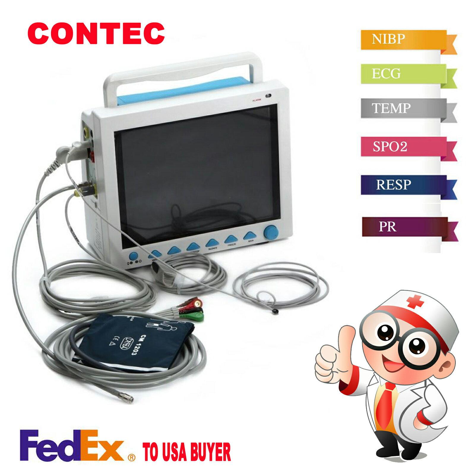 ICU CCU Portable Patient Monitor Vital Signs Multi parameter CONTEC CMS8000