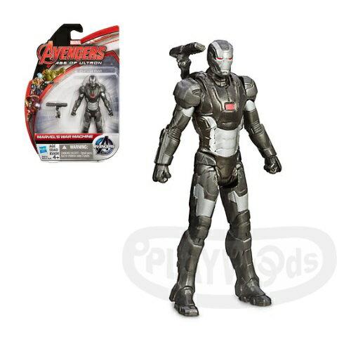 【Playwoods】[復仇者聯盟2:奧創紀元] 3.75吋明星人物:戰爭機器War Machine (可動關節人偶/鋼鐵人/MARVEL漫威世界/Avengers:Age of Ultron/驚奇漫畫/孩之寶Hasbro)
