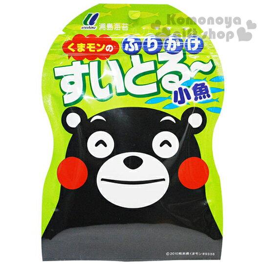 〔小禮堂〕日本原產 浦島 熊本熊 飯友《25g.袋裝》小魚風味