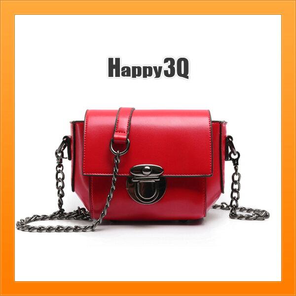 小包包鍊條包手提包斜背包油蠟質感休閒包包斜背包方包-黑紅綠棕【AAA3910】