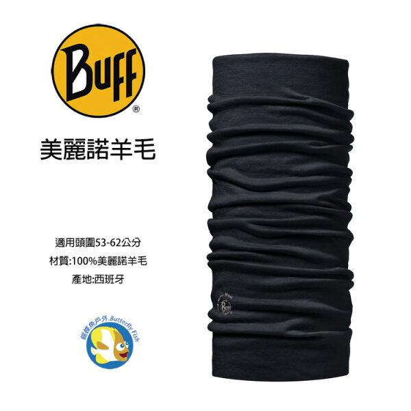 蝴蝶魚戶外用品館:POLARWOOLBuff-黑色幽默美麗諾羊毛頭巾;BF100637;蝴蝶魚戶外用品