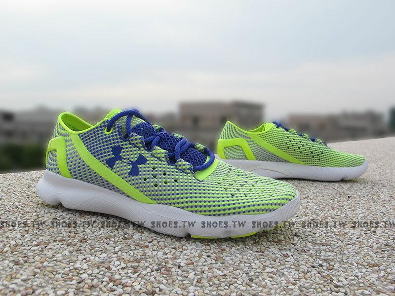 《下殺7折》Shoestw【1268339-731】UNDER ARMOUR Speedform 慢跑鞋 螢光綠 紫點點 女款