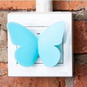 美麗大街【BF088E20E858】創意蝴蝶門窗輔助拉手器粘膠抽屜櫥櫃門窗拉手(2只裝)