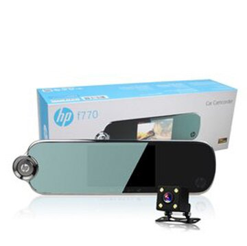 HP 惠普 F770 雙錄旗艦 5吋LCD 後視鏡行車記錄器 公司貨 0利率 免運
