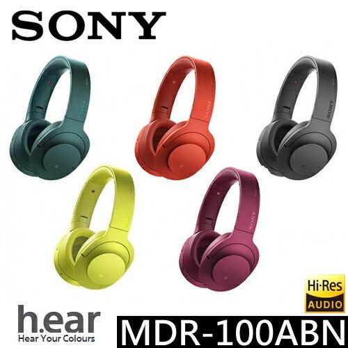 Sony MDR-100ABN h.ear 無線藍芽降噪耳罩式耳機 ◆可折疊 貨