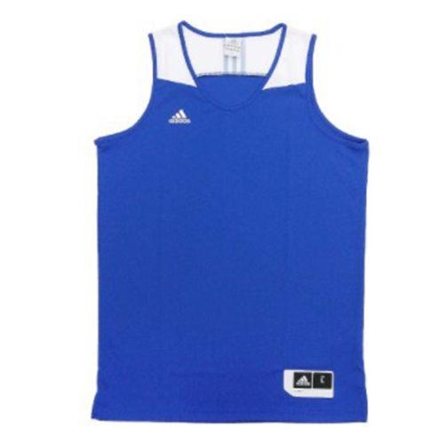 ADIDASCOMMANDERJER男裝上衣球衣背心籃球藍白【運動世界】G76620
