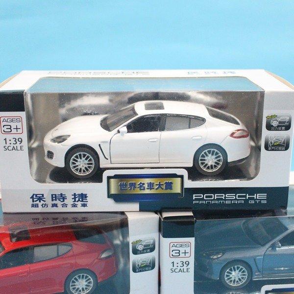 Porsche 保時捷P 合金車 模型車 (7號白盒)1:39/一台入{促199}Pananera Gts迴力車~生TOP301