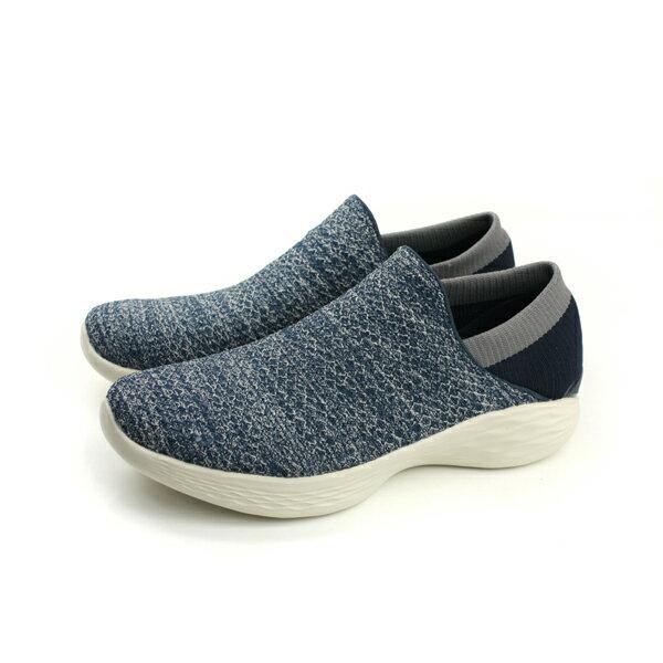 HUMAN PEACE:SKECHERSYOU運動鞋懶人鞋女鞋針織深藍色14951NVYno742