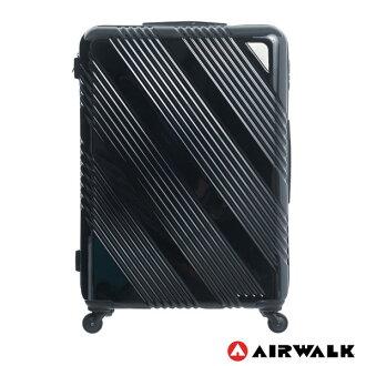 AIRWALK LUGGAGE - 【禾雅】斜紋系列 28吋ABSPC拉鍊行李箱 - 斜紋黑