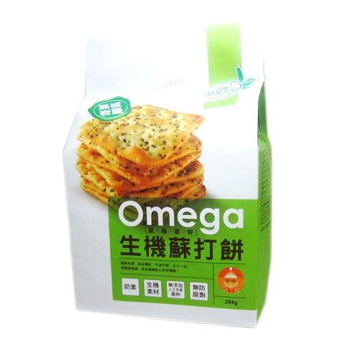 珍田~鼠尾草籽生機蘇打餅(黑椒岩鹽)294公克/包(奶素)