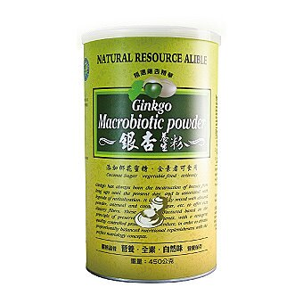 綠源寶~銀杏養生粉450公克/罐▶全館滿499免運
