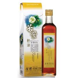 金椿茶油工坊~精選茶葉綠菓茶葉籽油500ml/罐