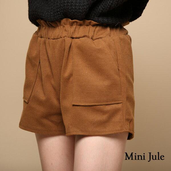 小豬兒 Mini Jule:★現貨★短褲純色休閒雙口袋毛呢短褲小豬兒MiNiJule【KUE72008815】