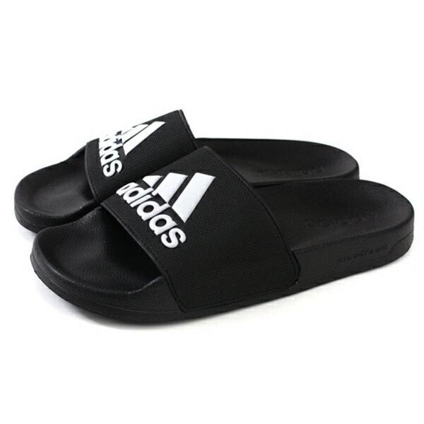 Shoestw【F34770】ADIDAS ADILETTE SHOWER 拖鞋 防水拖 大LOGO 黑白 男生尺寸 2