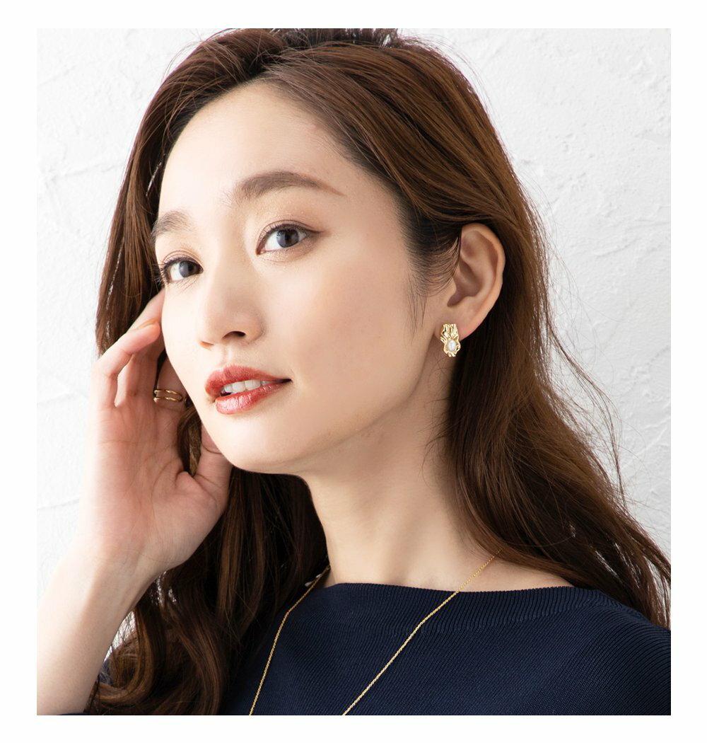 日本Cream Dot  /  不規則珍珠穿孔耳環  /  s00011  /  日本必買 日本樂天代購  /  件件含運 9