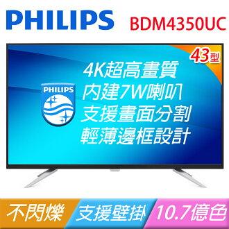 PHILIPS 飛利浦 BDM4350UC 43吋寬4K IPS液晶顯示器